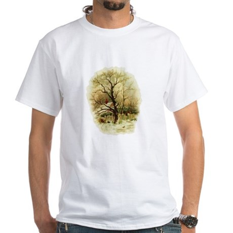 Winter Scene White T-Shirt