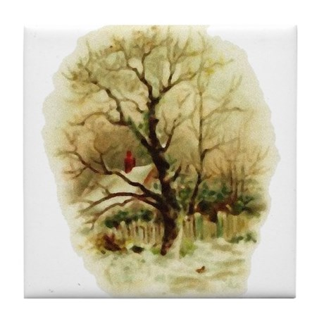 Winter Scene Tile Coaster