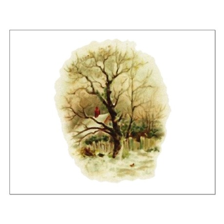 Winter Scene Small Poster
