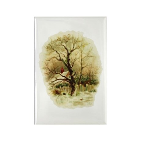 Winter Scene Rectangle Magnet