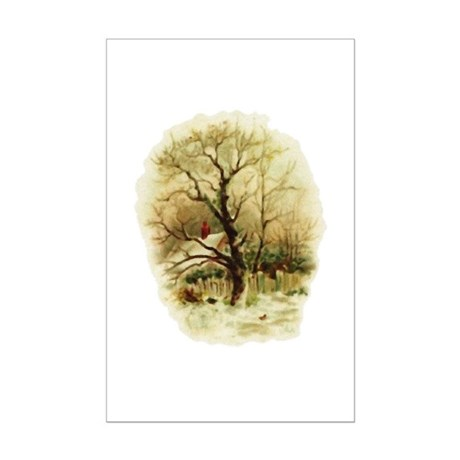 Winter Scene Mini Poster Print