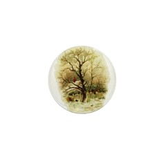 Winter Scene Mini Button (100 pack)