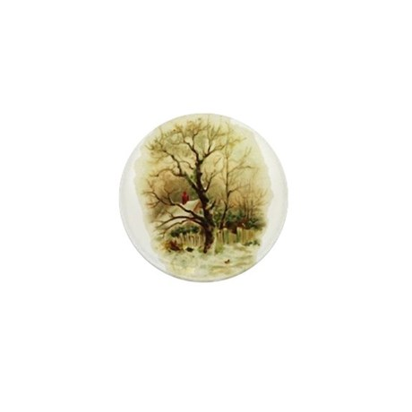 Winter Scene Mini Button