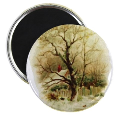 "Winter Scene 2.25"" Magnet (100 pack)"