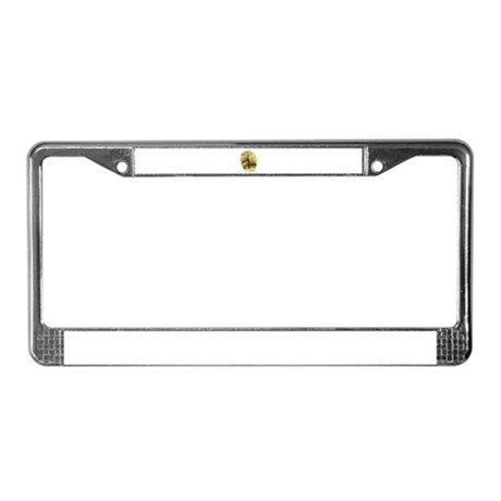 Winter Scene License Plate Frame