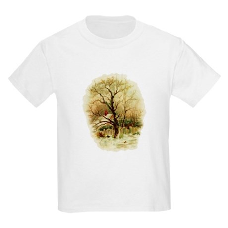 Winter Scene Kids Light T-Shirt