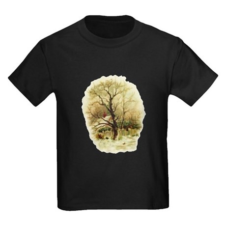 Winter Scene Kids Dark T-Shirt