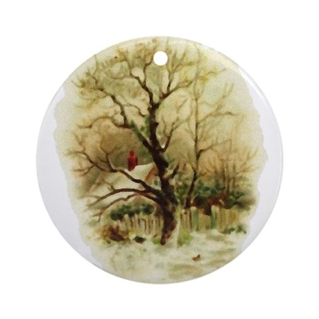 Winter Scene Ornament (Round)