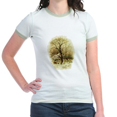 Winter Scene Jr. Ringer T-Shirt