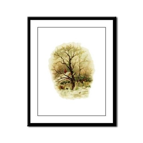 Winter Scene Framed Panel Print