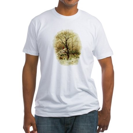 Winter Scene Fitted T-Shirt