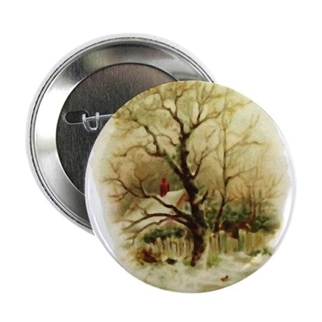 "Winter Scene 2.25"" Button (100 pack)"