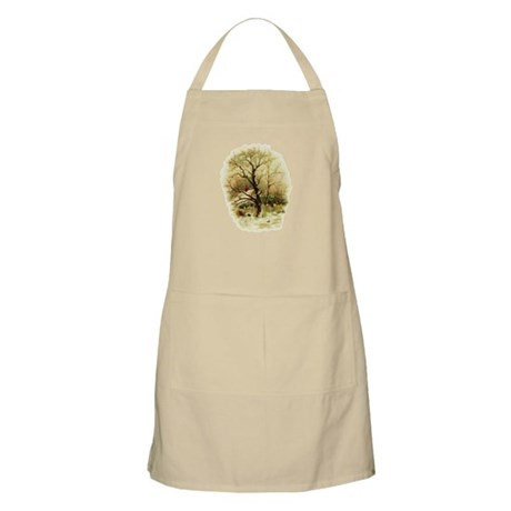 Winter Scene BBQ Apron