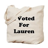 Voted For Lauren Tote Bag