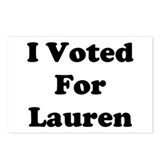 Voted For Lauren Postcards (Package of 8)