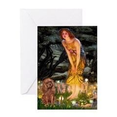 Fairies & Ruby Cavalier Greeting Card