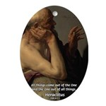 Ancient Greek Philosophy: Heraclitus Ornament (Ova