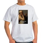 Ancient Greek Philosophy: Heraclitus Ash Grey T-Sh
