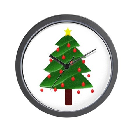 Christmas Tree Wall Clock