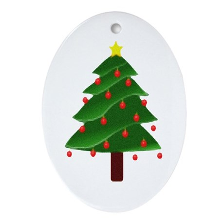 Christmas Tree Oval Ornament