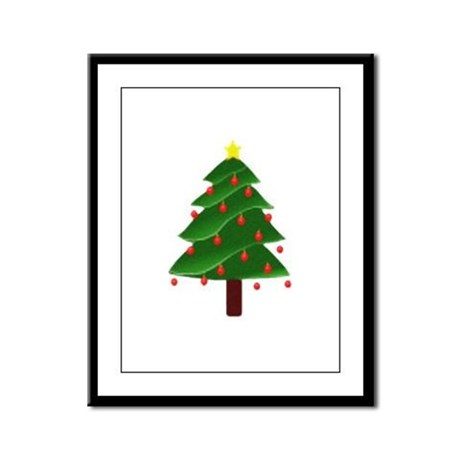 Christmas Tree Framed Panel Print