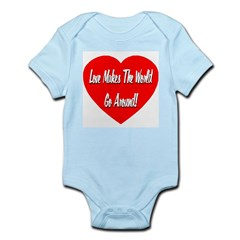 Love Makes World Go Around Infant Bodysuit