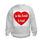 Love Makes World Go Around Kids Sweatshirt