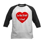 Love Makes World Go Around Kids Baseball Jersey