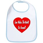 Love Makes World Go Around Bib