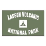 Lassen Volcanic National Park Sticker (Rectangular