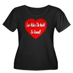 Love Makes World Go Around Women's Plus Size Scoop