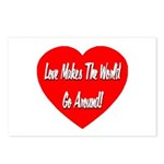 Love Makes World Go Around Postcards (Package of 8