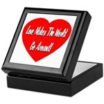 Love Makes World Go Around Keepsake Box