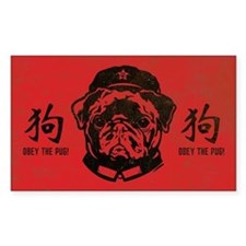 Black Pug Chairman - Dog Decal