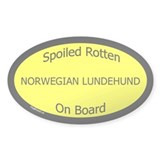 Spoiled Norwegian Lundehund Oval Decal