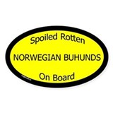 Spoiled Norwegian Buhunds On Board Oval Bumper Stickers