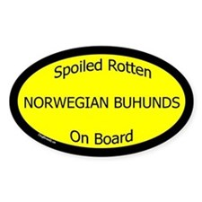 Spoiled Norwegian Buhunds On Board Oval Decal