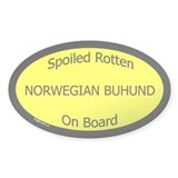 Spoiled Norwegian Buhund On Board Oval Bumper Stickers