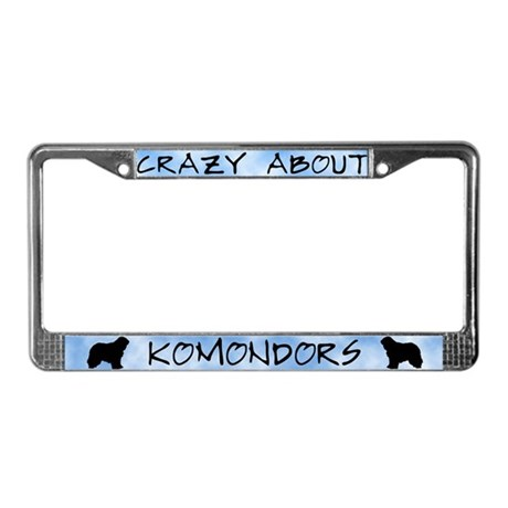 Crazy About Komondors License Plate Frame