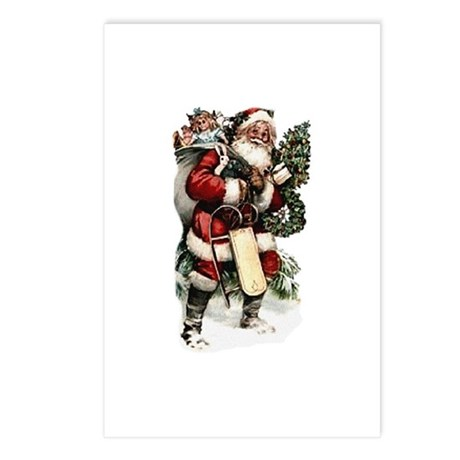 Vintage Santa Postcards (Package of 8)