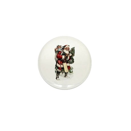 Vintage Santa Mini Button (100 pack)