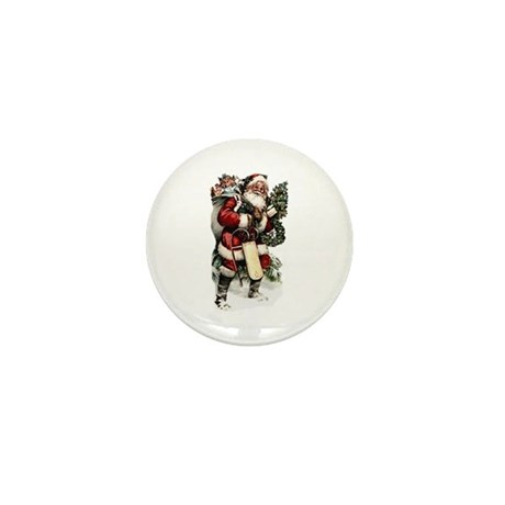 Vintage Santa Mini Button