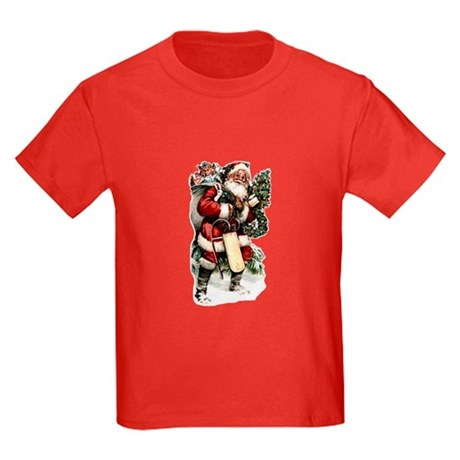Vintage Santa Kids Dark T-Shirt