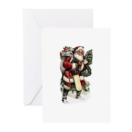 Vintage Santa Greeting Cards (Pk of 20)