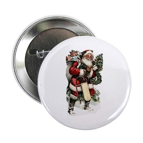 "Vintage Santa 2.25"" Button (10 pack)"