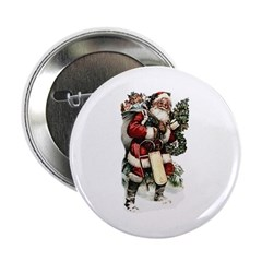 "Vintage Santa 2.25"" Button (100 pack)"