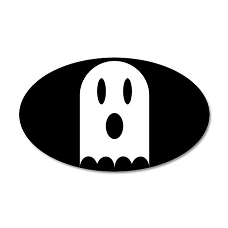 Cute Scary Halloween Ghost 20x12 Oval Wall Decal