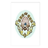 Beehive with Honeybees Postcards (Package of 8)
