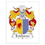 Estebanez Family Crest Small Poster