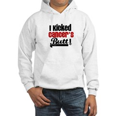 Kicked Cancer's Butt Hooded Sweatshirt